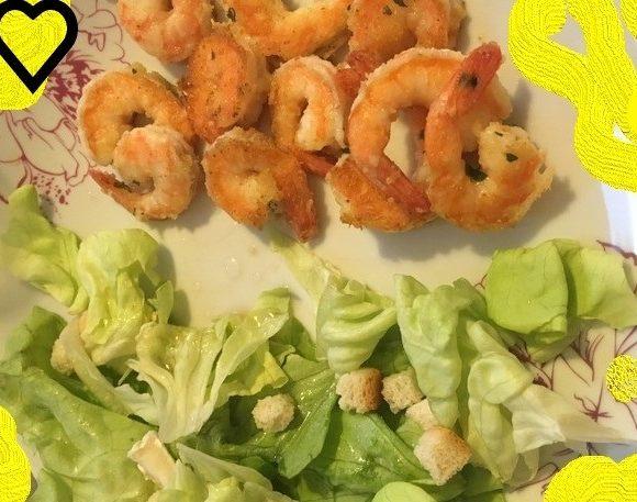 Crevettes sautées au wok