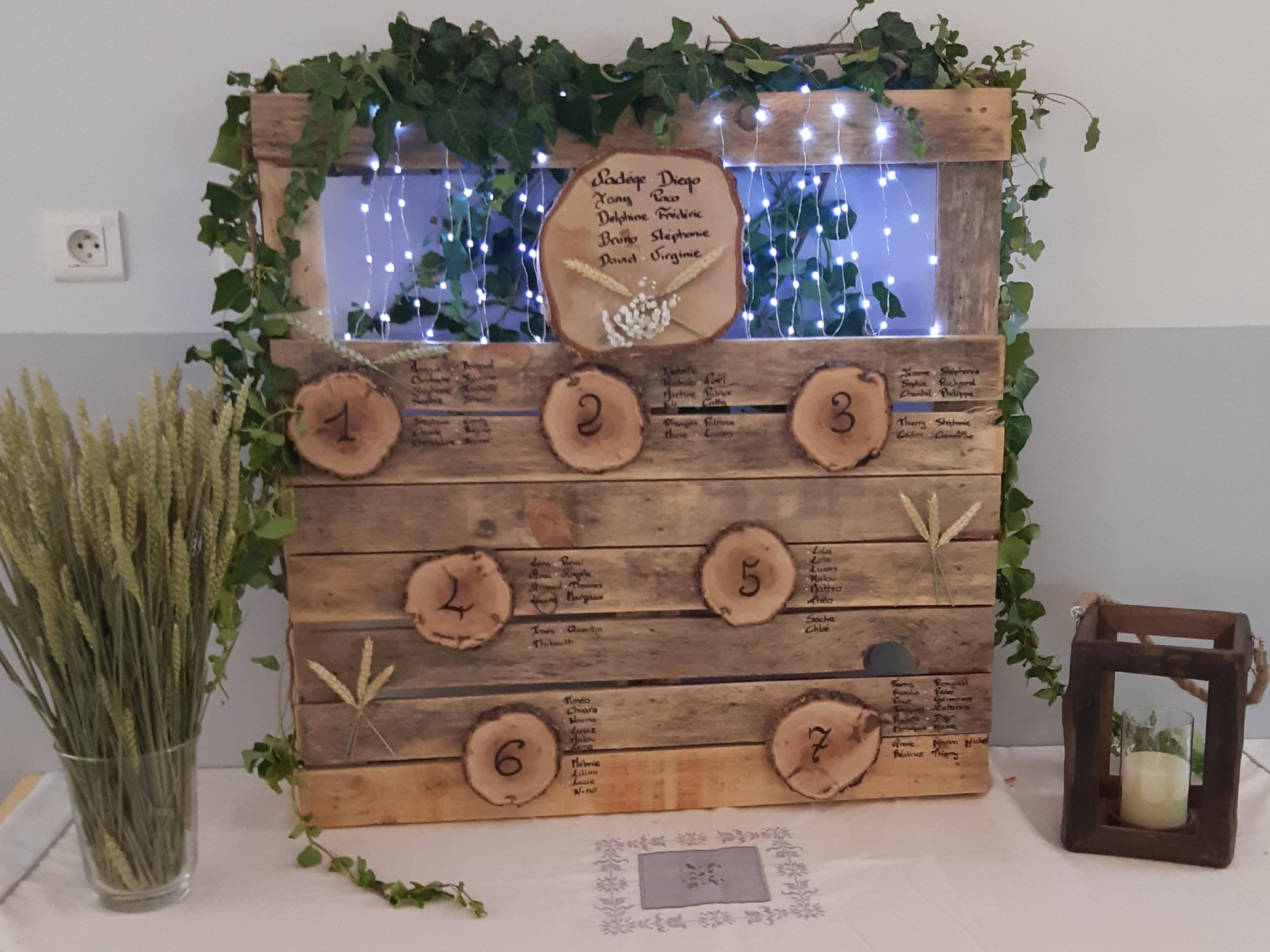 Plan de table rondin en bois