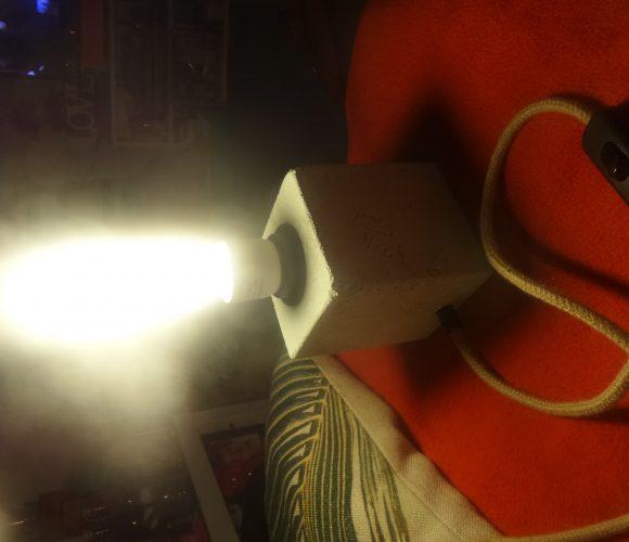 J'ai testé pour vous atelier lampe béton