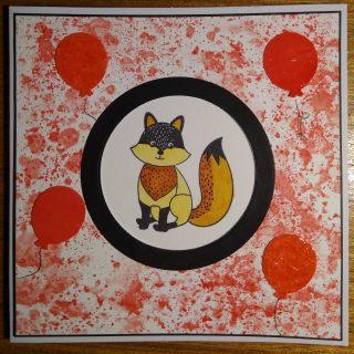 Carte rouge renard