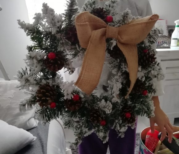 Couronne de Noël pour porte