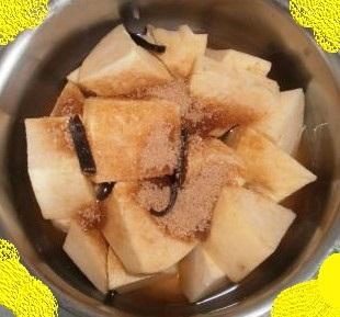 Patate douce à la vanille