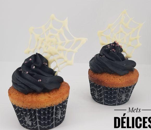 Cup cake araignée