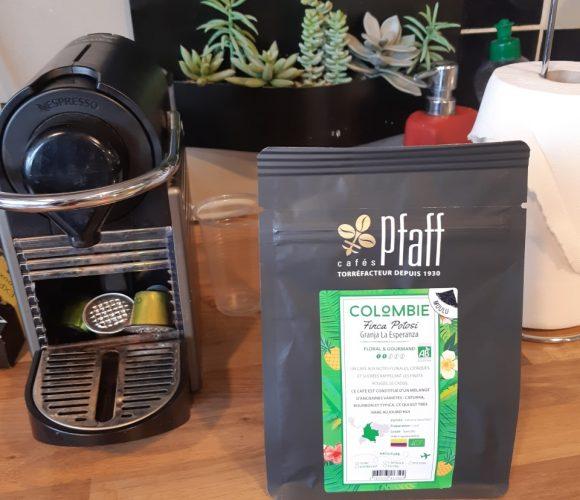 Le Café frappé avec le café Bio Colombie Pfaff