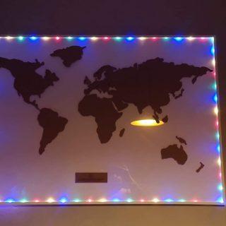 """J'ai choisi pour ma sœur ... la carte du monde en liège de """"La Chaise Longue"""""""