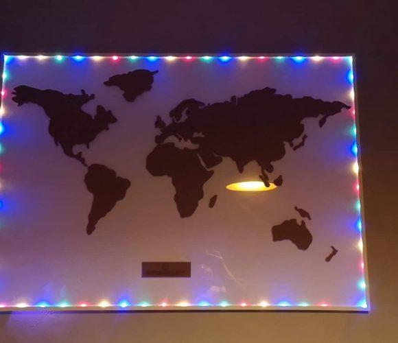 J'ai choisi pour ma sœur … la carte du monde en liège de «La Chaise Longue»