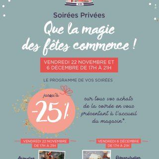 Que la Magie commence avec notre Vente privée Vendredi 06 Décembre de 17h à 21h