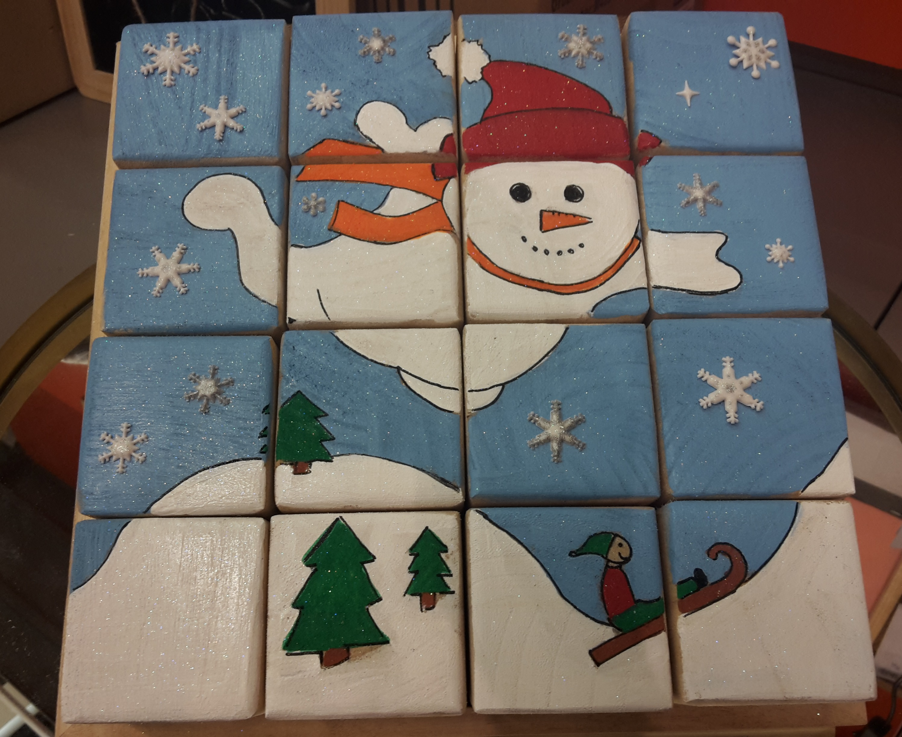 je fabrique mon puzzle de Noël