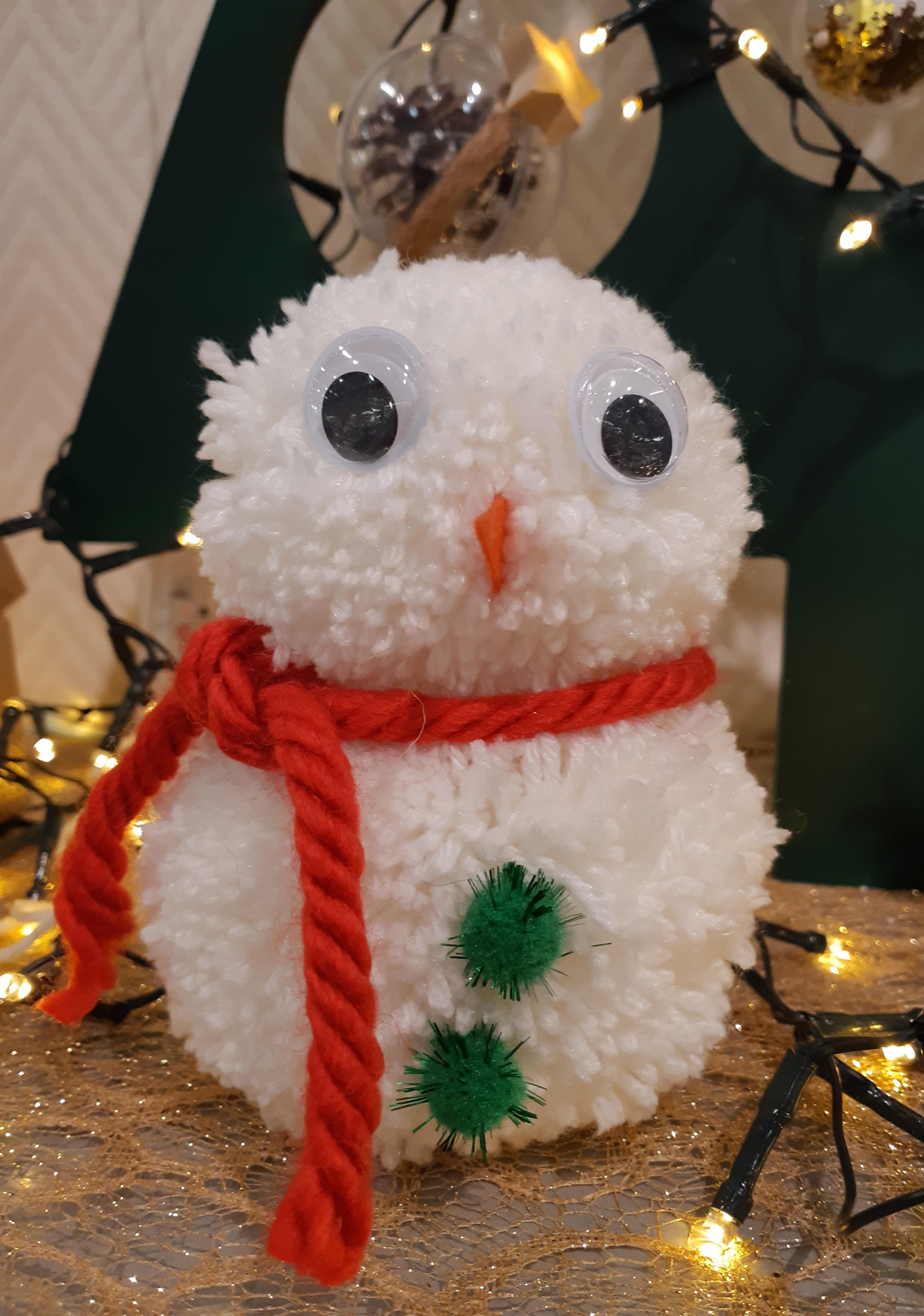 J'ai testé pour vous le pompon bonhomme de neige