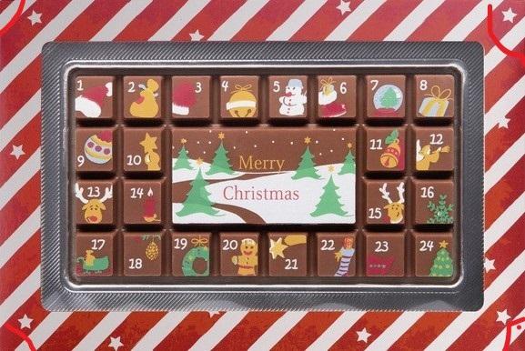 J'ai testé pour vous chocolats  Merry Christmas  Calendrier de l'Avent