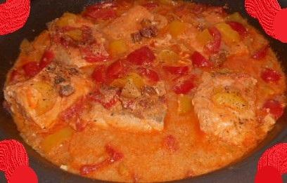 Darnes de Saumon au Chorizo