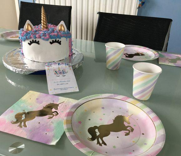Anniversaire 100% licorne pour les 9 ans de ma fille