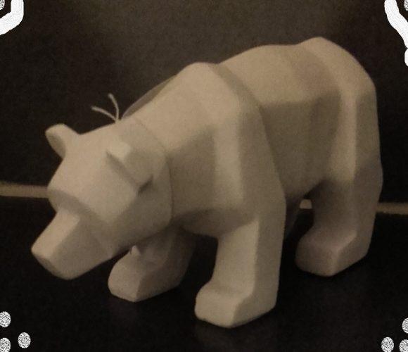 Ours blanc en 3D