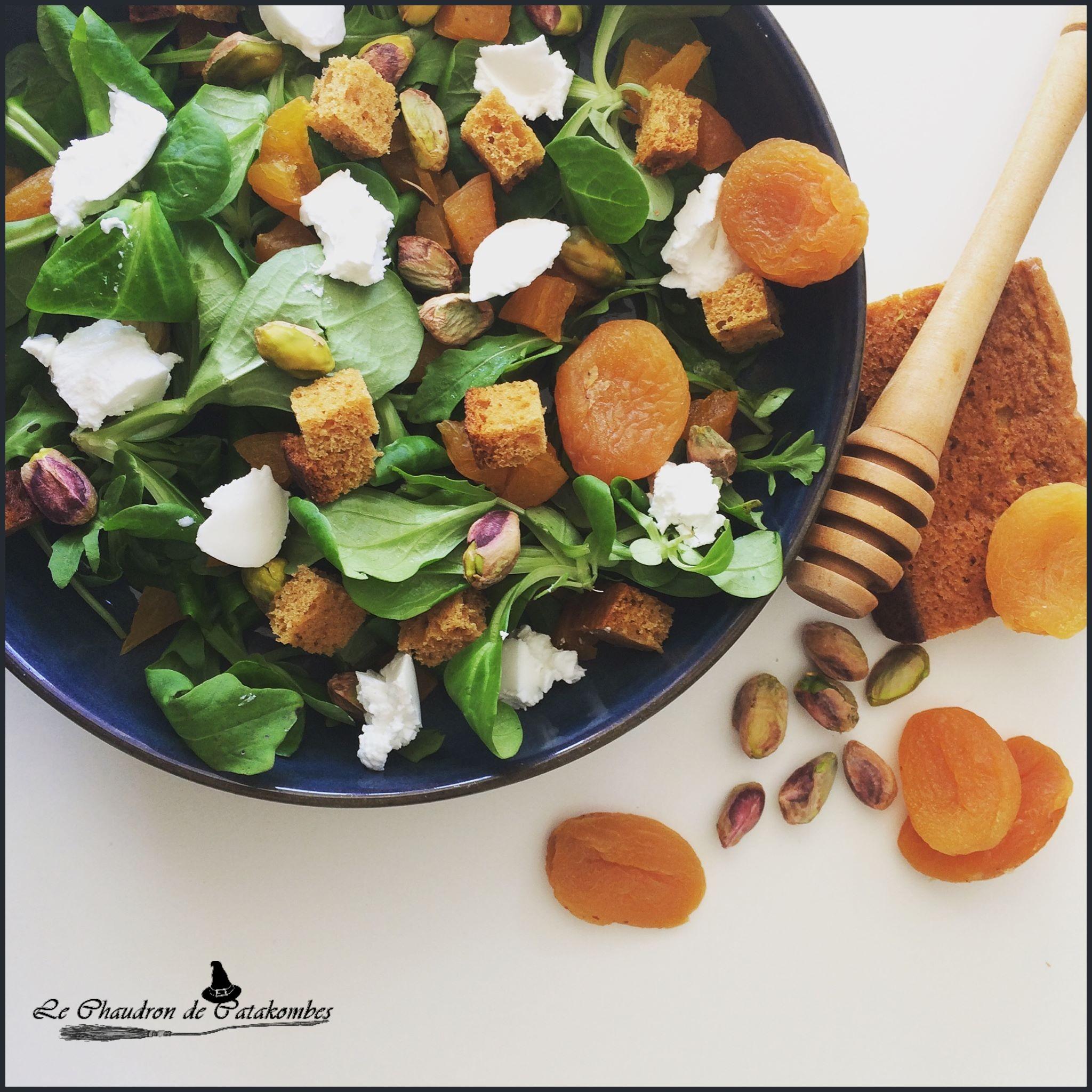 Salade de pain d'épices & abricot