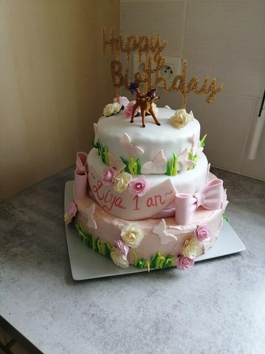 Gâteau monté thème bambi nature !