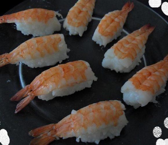 Sushis aux crevettes  🦐🦐