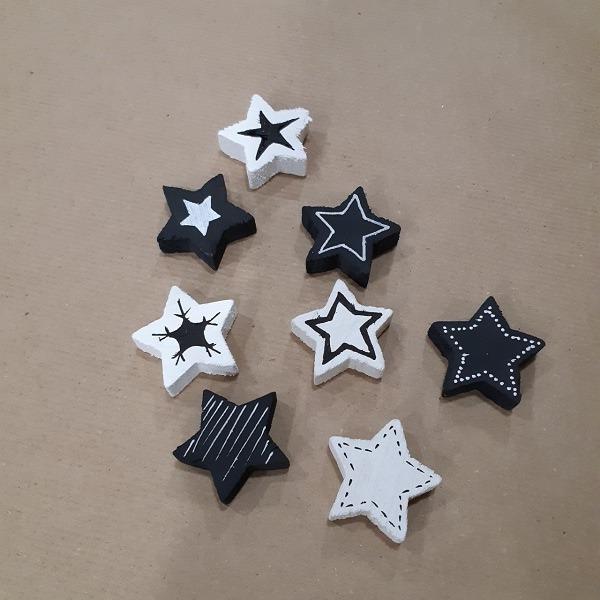Mes petites étoiles en noir et blanc