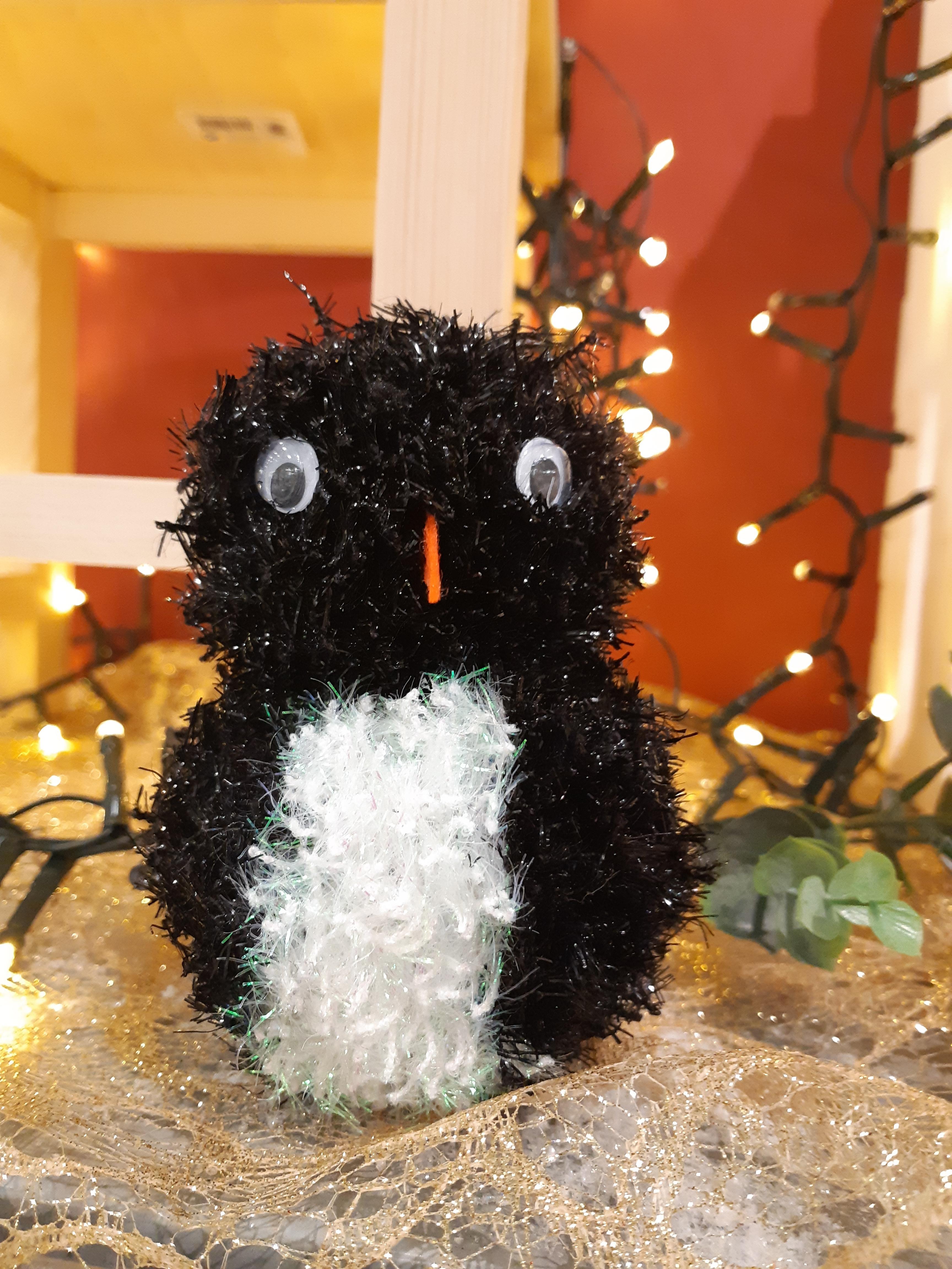 J'ai testé pour vous la laine bubble pour réaliser un pingouin en pompons