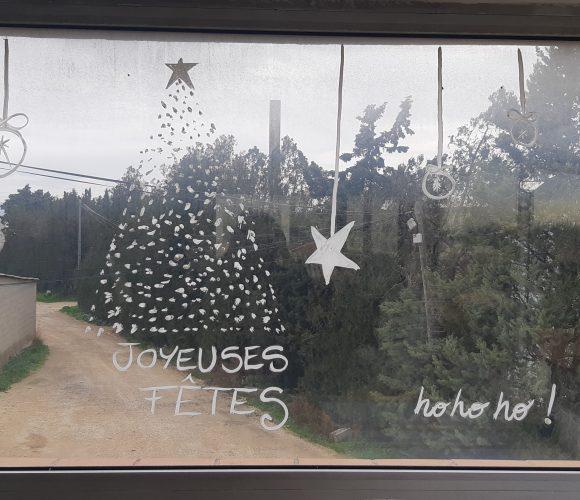 Je décore mes fenêtres avec du blanc de Meudon