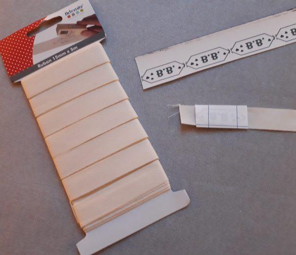 J'ai testé pour vous le Ruban coton blanc Artemio 15mmx5m