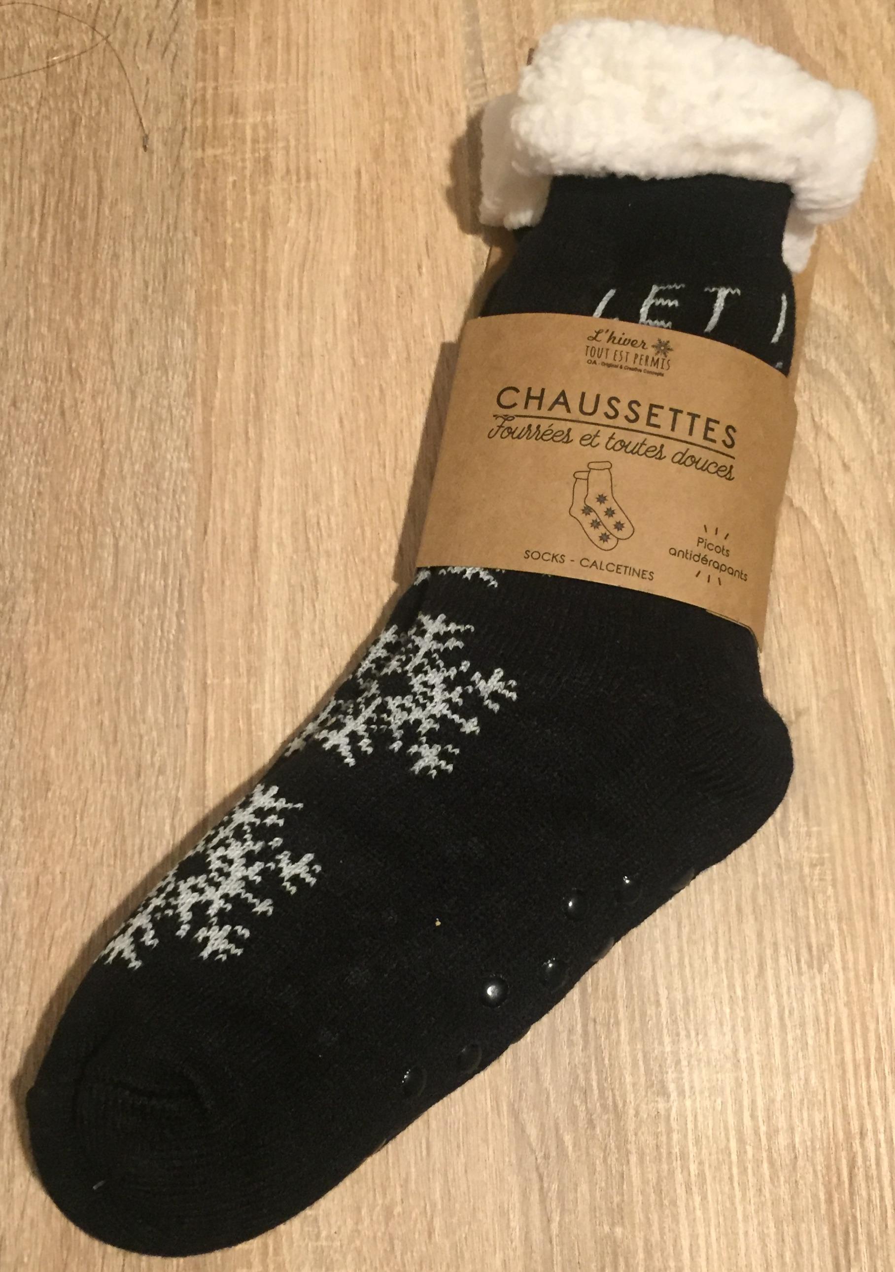 Chaussettes antidérapantes Hiver