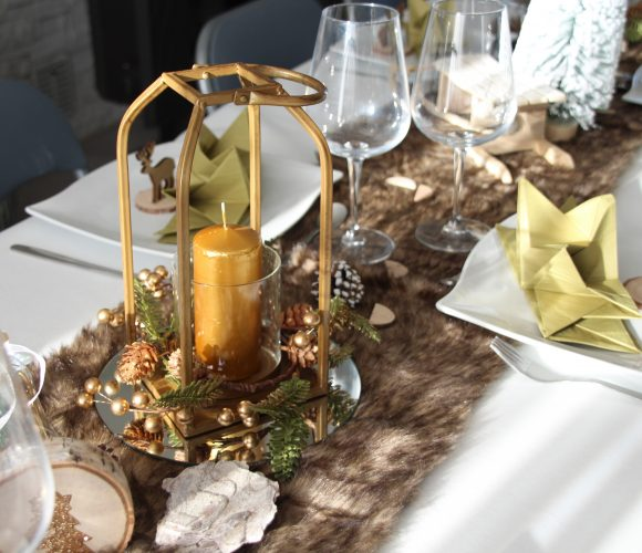 Table thème nature de Noël