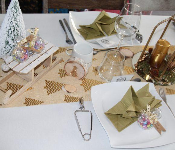 J'ai testé pour vous le chemin de table lin sapin or de chez zodio