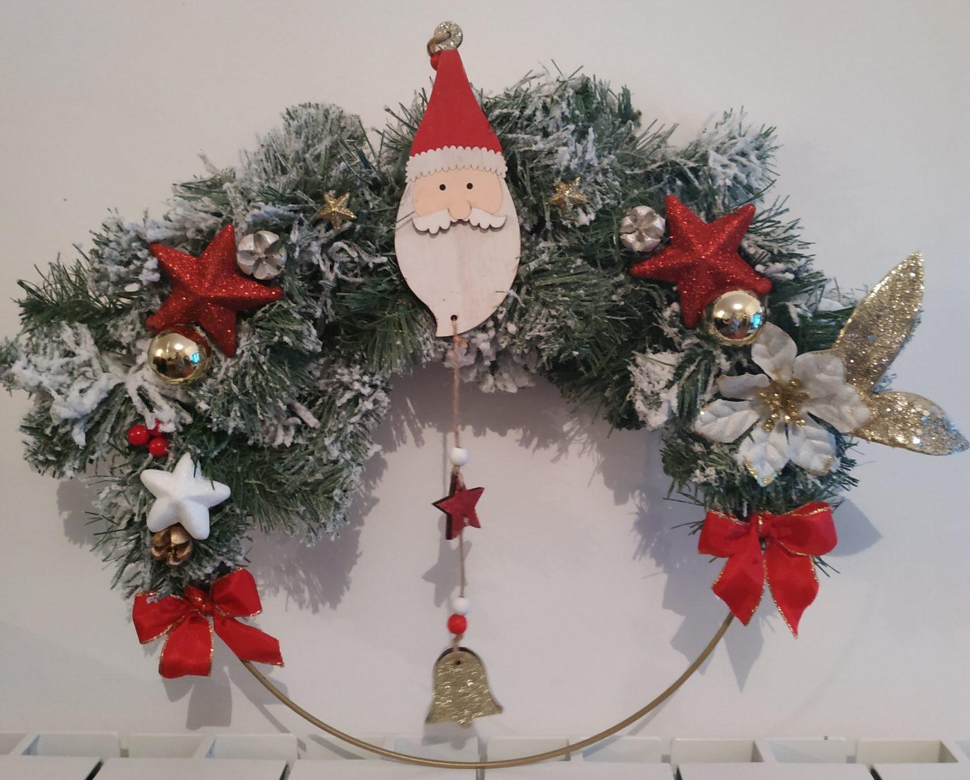 Couronne de Noël, ornement Père Noël