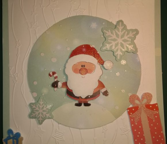 Carte de Noel : père noel 3D