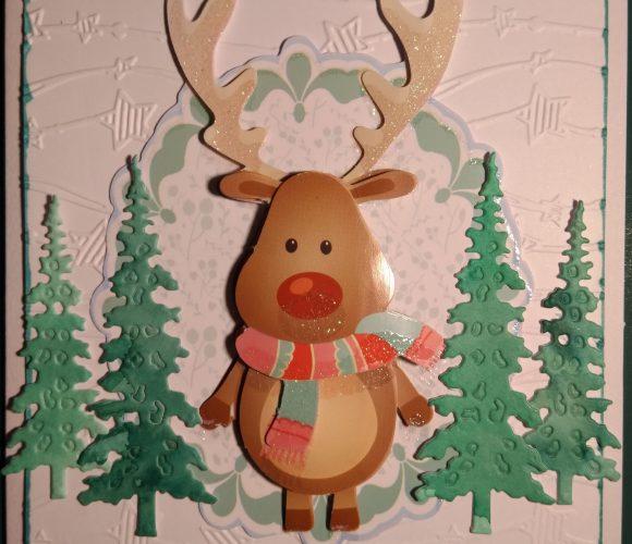 Carte de Noel : renne 3D