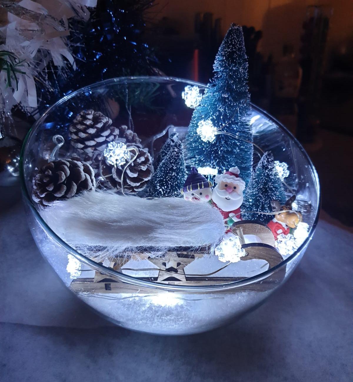 Idée déco – coupe forme hémisphérique Noël