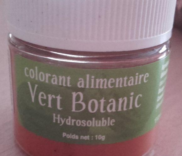 J'ai testé pour vous colorant alimentaire vert botanique   en poudre !!