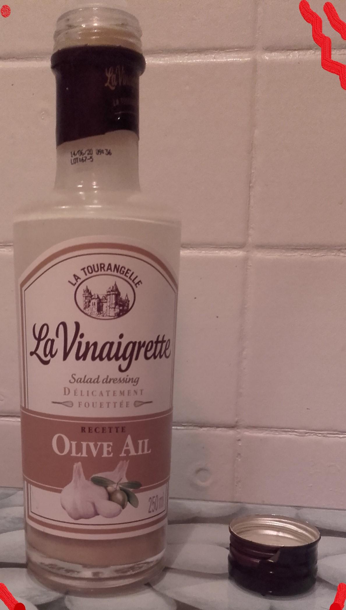 J'ai testé pour vous vinaigrette Olive et Ail La Tourangelle