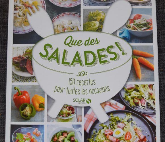 Livre «Que des salades» avec recette d'endives aux poires, pistaches et gouda