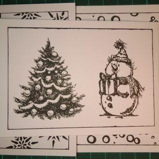 Carte de Noel en blanc et noir