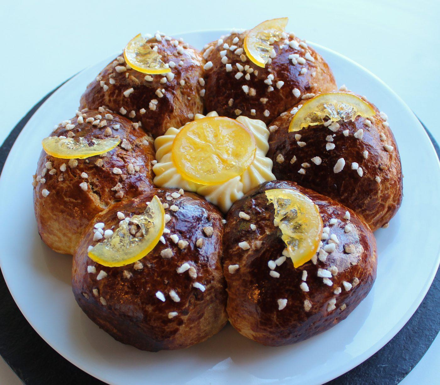 Couronne des rois citronnée