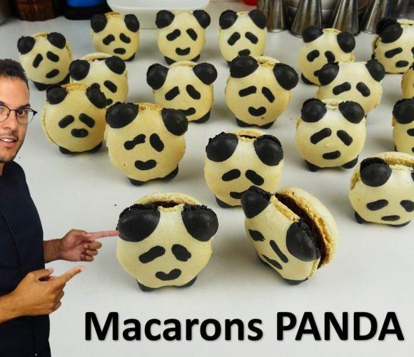 MACARONS PANDA AU CHOCOLAT