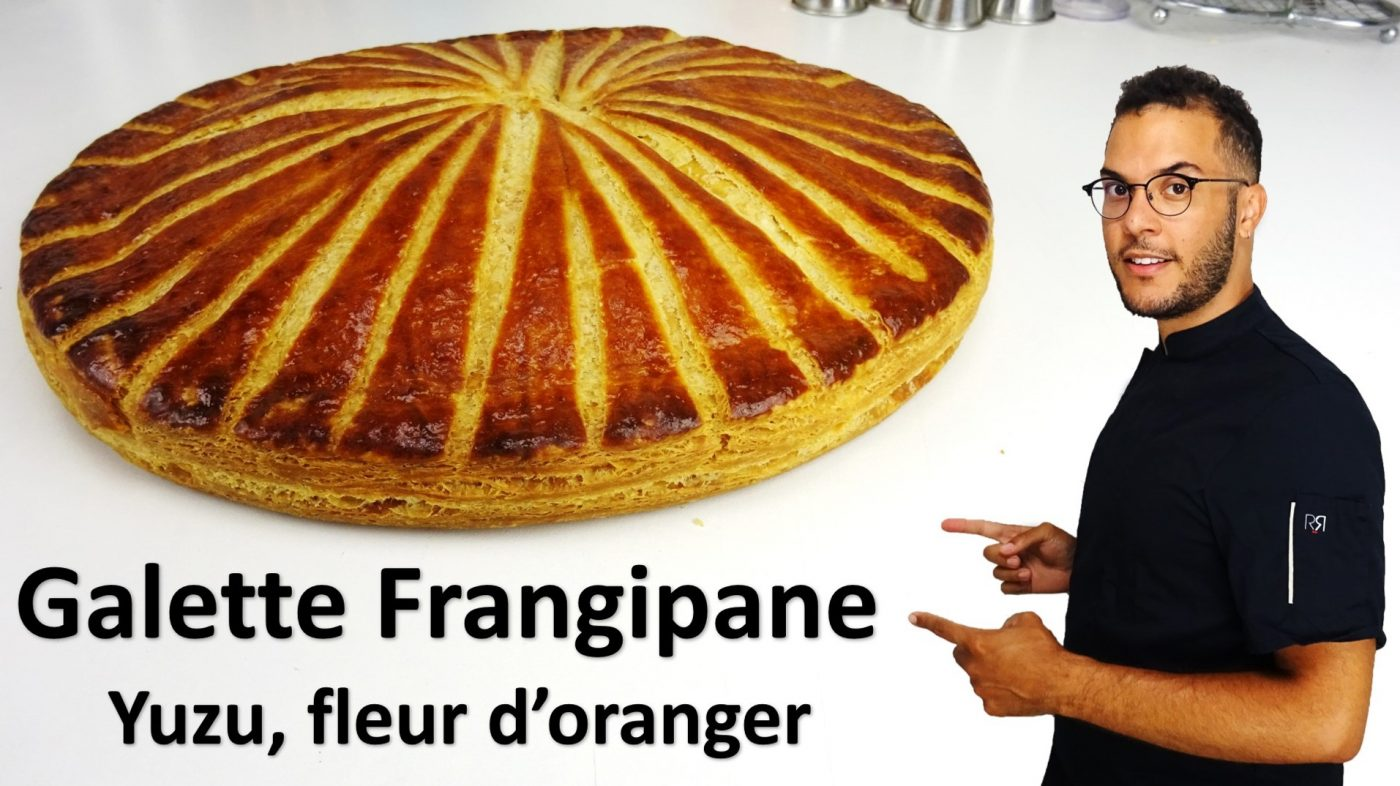GALETTE FRANGIPANE YUZU, FLEUR D'ORANGER