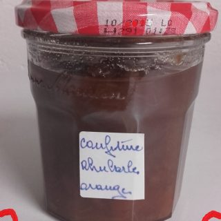 Confiture rhubarbe orange maison