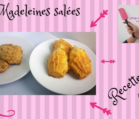 MADELEINES SALÉES ( jambon cru/pesto et munster/cumin)