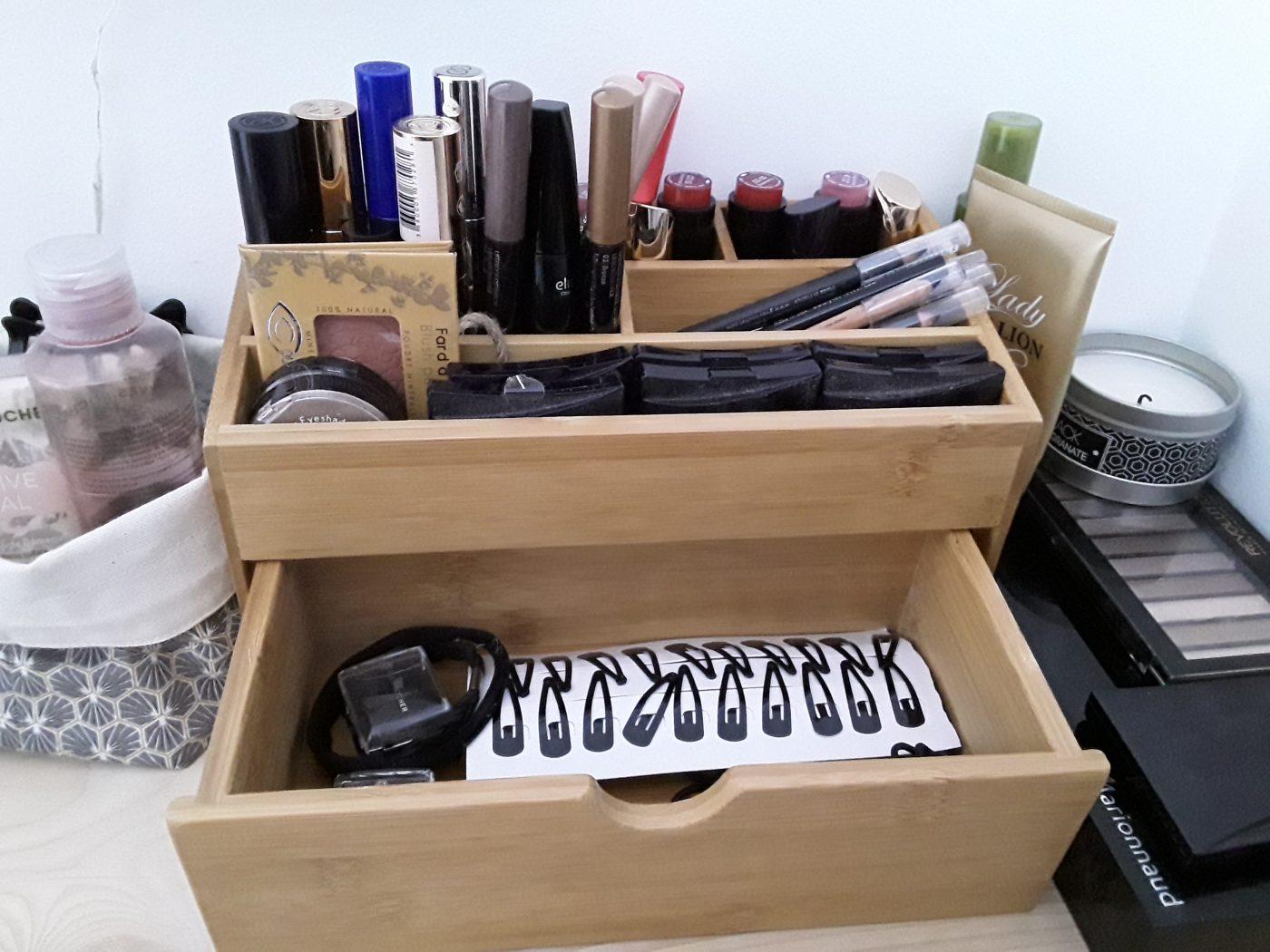 Rangement maquillage bambou (Blog Zôdio)