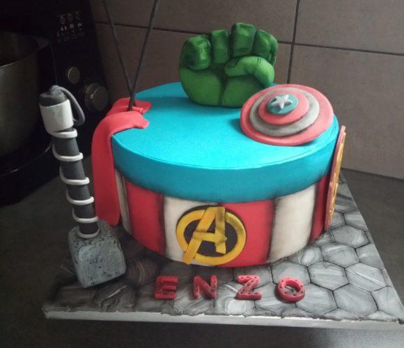 Gâteau avangers