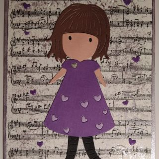 Carte d'anniversaire violette