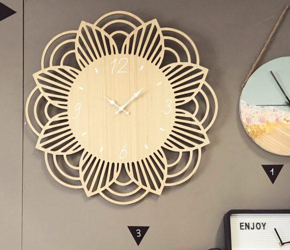 Horloge bois fleur