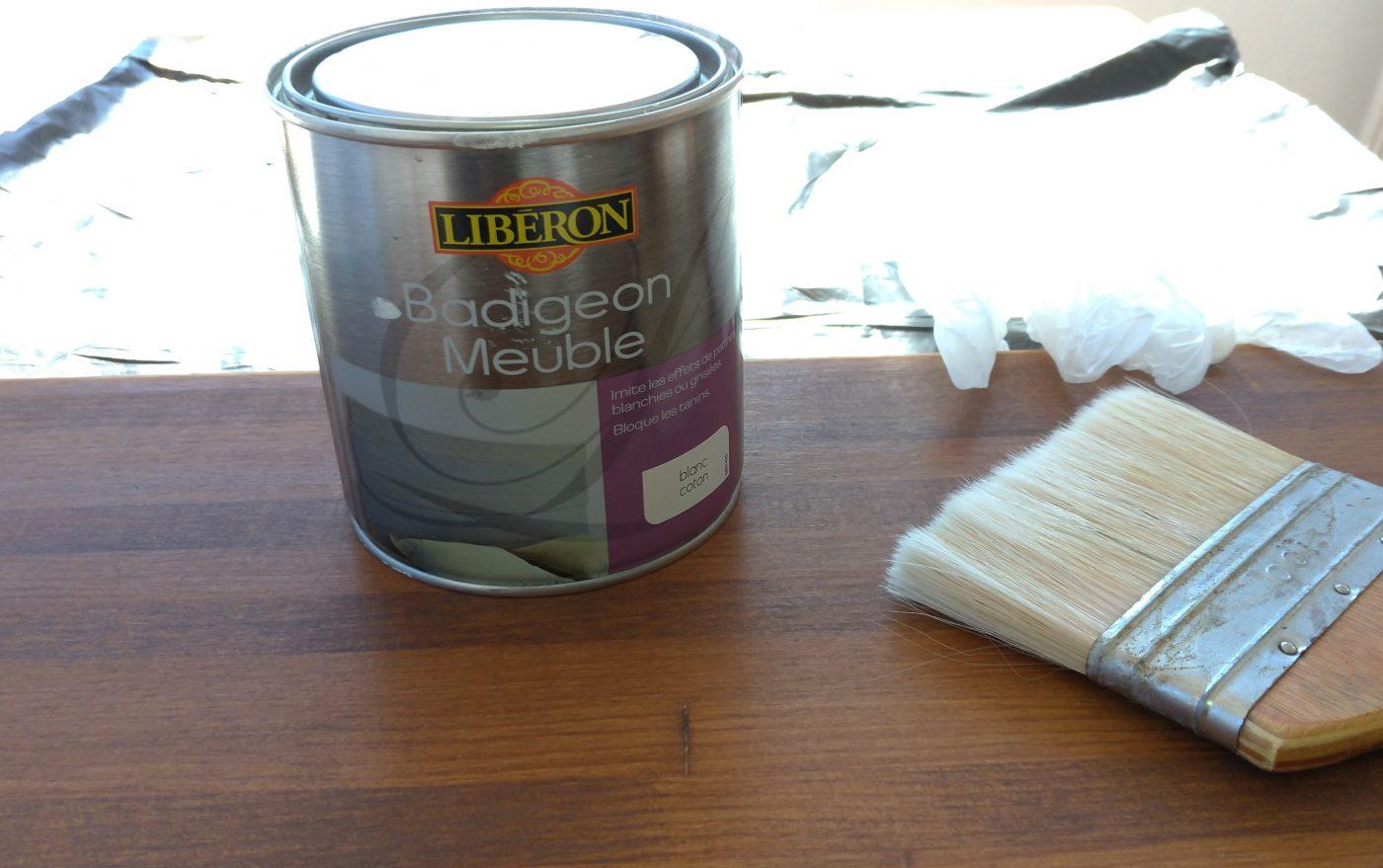 J'ai testé pour vous le badigeon meuble Liberon