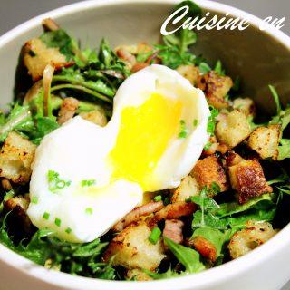 Salade de pissenlit – oeuf mollet