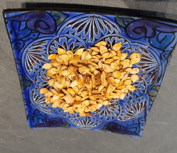 graines de courge grillées pour l'apéro