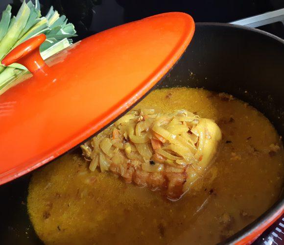 Roti de porc curry lait de coco