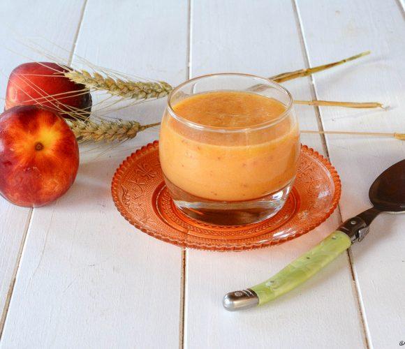 Gaspacho Melon, Nectarine et Crème de Vinaigre Balsamique