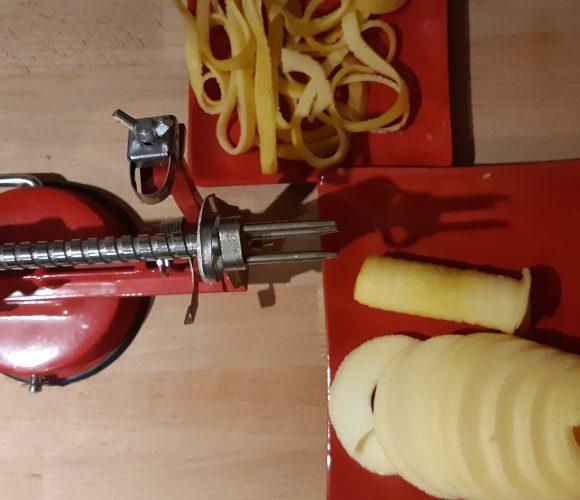 J'ai testé pour vous eplucheur à pommes rouge